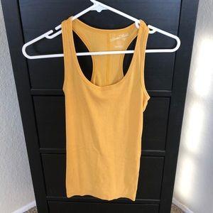 Mustard yellow tank